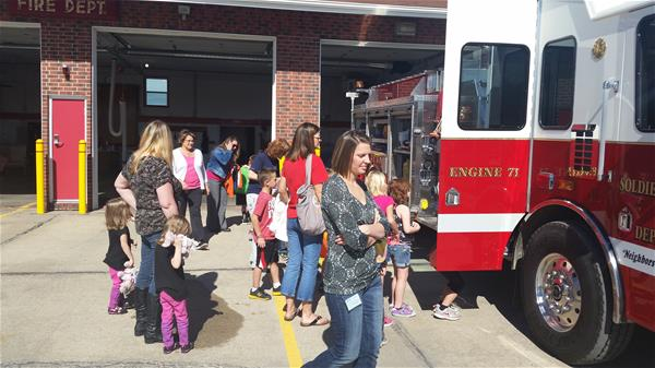 Kids Taking a Fire Station Tour