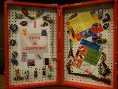 Toys or Lighters Display Case