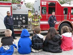 Firefighters Speaking to Young Kids